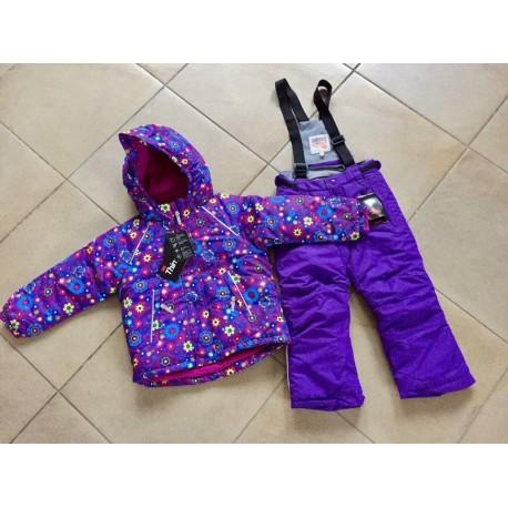 Теплый зимний мембранный комплект Valianly цвет Violet Flower Stars