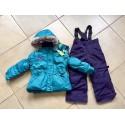 Теплый зимний мембранный комплект Peluche et Tartine (Канада) цвет Аквамарин (Aquamarine)