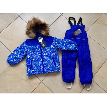 Теплый зимний мембранный комплект Valianly цвет Ocean Blue