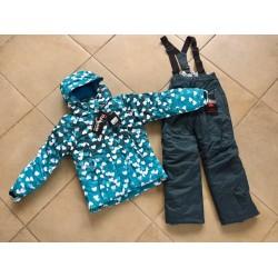 Теплый зимний мембранный комплект Valianly цвет Seagreen Hearts