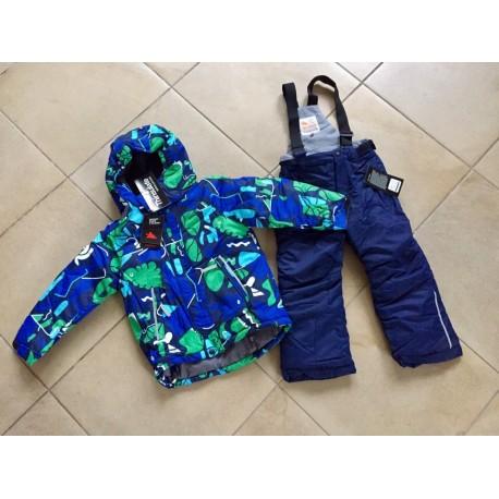 Теплый зимний мембранный комплект Valianly цвет Green Blue Dino