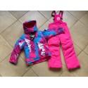 Теплый зимний мембранный комплект Valianly цвет Pink Blue Stripes