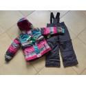Теплый зимний мембранный комплект Peluche et Tartine (Канада) цвет Blackberry