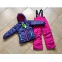 Теплый зимний мембранный комплект Peluche et Tartine (Канада) Фиолетовый Закат (Violet Sunset)
