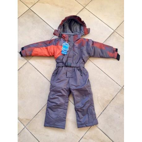 Теплый зимний мембранный комбинезон OKWAY (YDI) Оранжевый Голубой (Orange Grey)