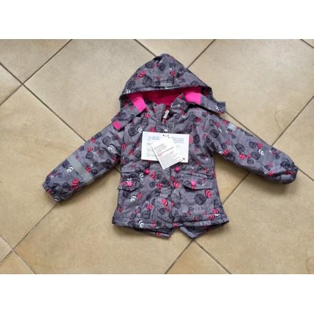 """Демисезонная мембранная куртка Tornado цвет Cute Grey Birds """"Милые серые птички"""""""