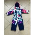 Зимний слитный мембранный комбинезон Disumer (Snowest) цвет Pink Blue Chamomile Розово-голубые Ромашки