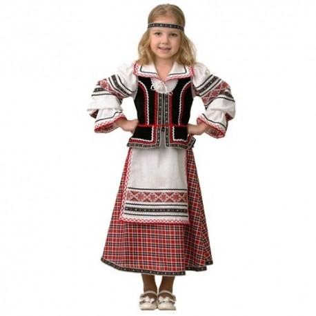 Русский национальный костюм расшитый узорами 5600