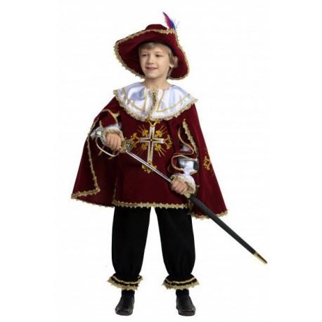 Карнавальный костюм Мушкетёр бордо
