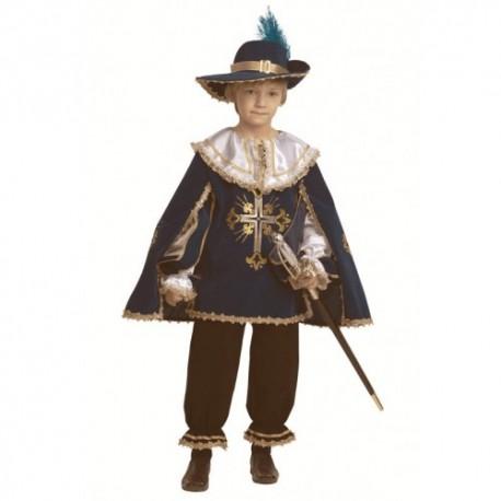 Маскарадный костюм Мушкетёр (цвет синий)