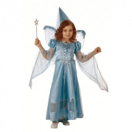 Маскарадный костюм Фея сказочная (цвет голубой)