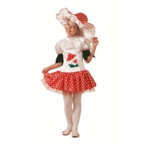 Маскарадный костюм Грибок-девочка