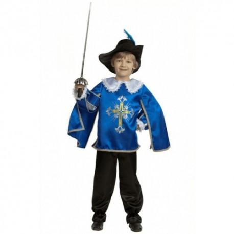Маскарадный костюм Мушкетёр синий