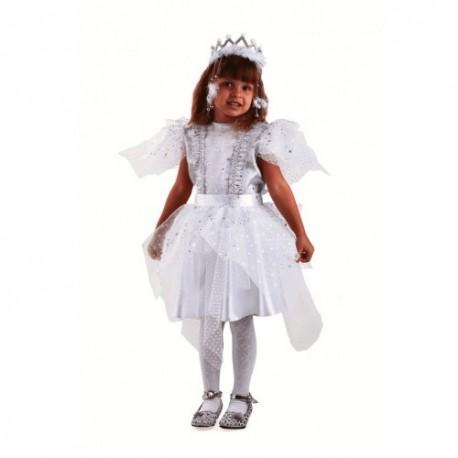 Маскарадный костюм Снежинка Серебряная
