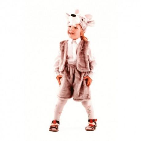 Маскарадный костюм Козлик цвет серый