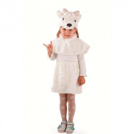 Маскарадный костюм Козочка цвет белый