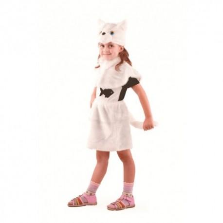 Маскарадный костюм Кошка цвет белый