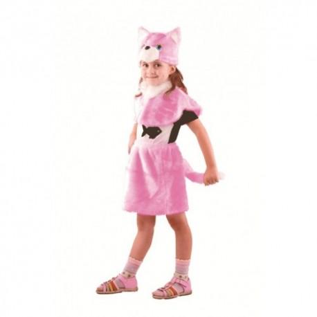 Маскарадный костюм Кошка цвет розовый