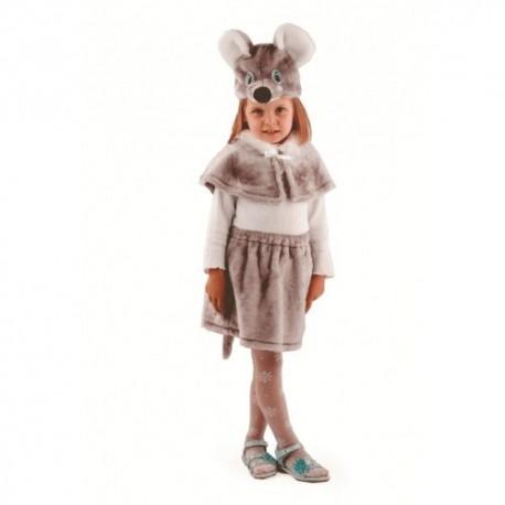 Маскарадный костюм Мышка цвет серый