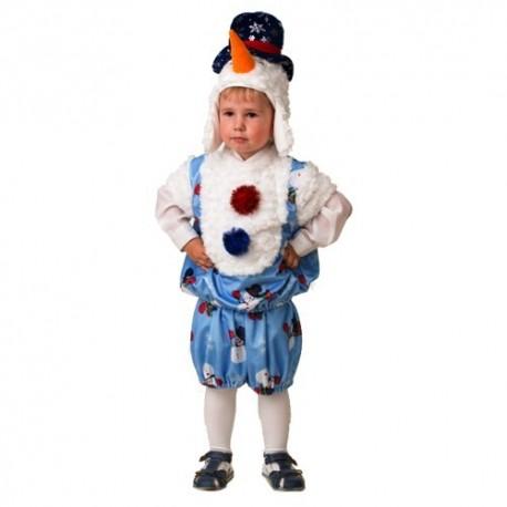 Маскарадный костюм Снеговичок Снежник