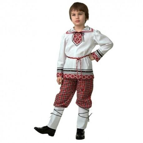 Маскарадный костюм Детская национальная рубашка вышиванка