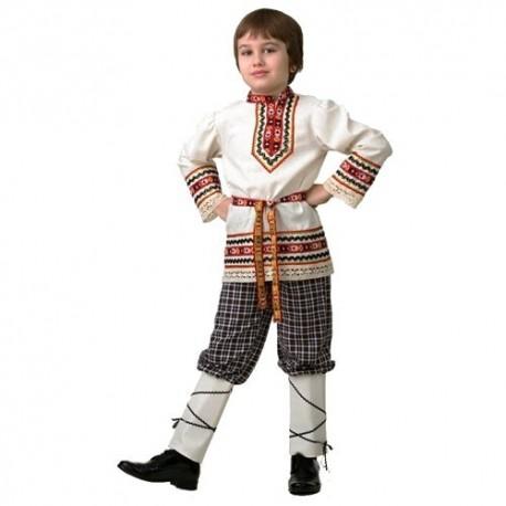 Маскарадный костюмДетская славянская Рубашка вышиванка (мальчик)