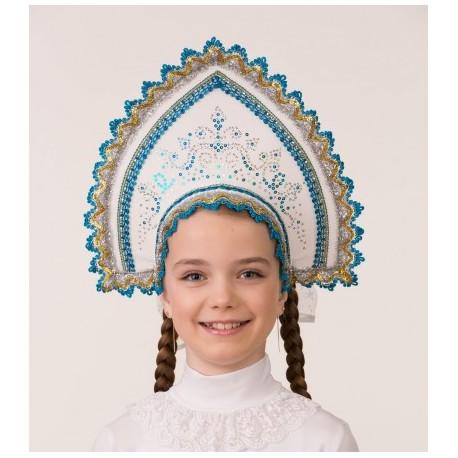 Маскарадный костюм Кокошник Зимние узоры