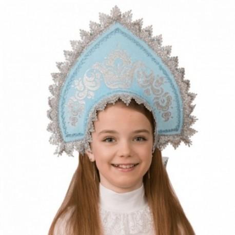 Маскарадный костюм Кокошник Серебрянка