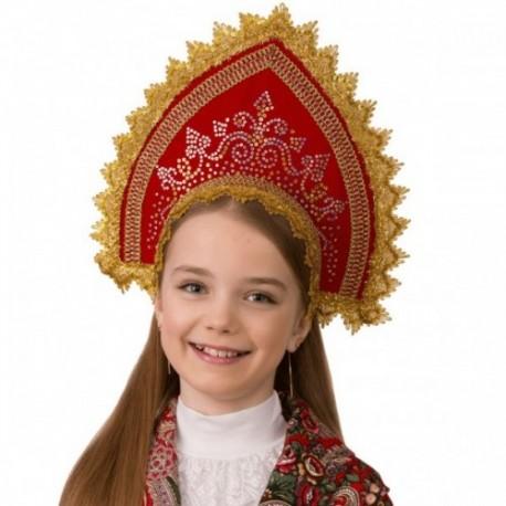Маскарадный костюм Кокошник Забавушка