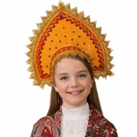 Маскарадный костюм Кокошник Янтарная