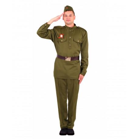 Взрослый военный костюм Солдат