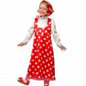 Детский карнавальный костюм Машенька (горох)