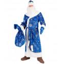 Взрослый костюм Дед Мороз Синий