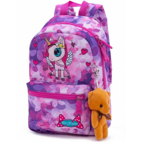 Рюкзак детский SkyName 1102 + брелок мишка